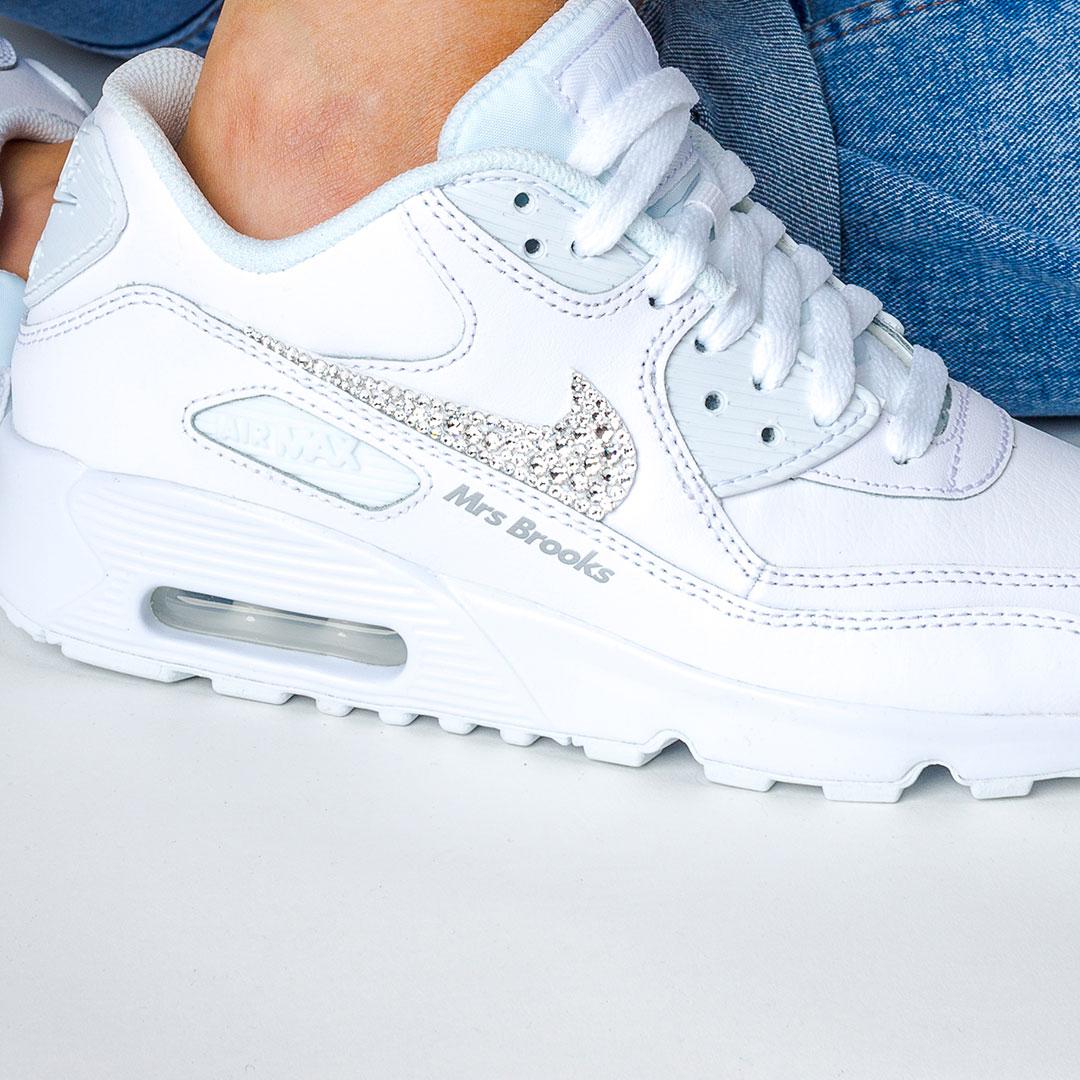 Nike Wedding Shoes Air Max 90 l Custom