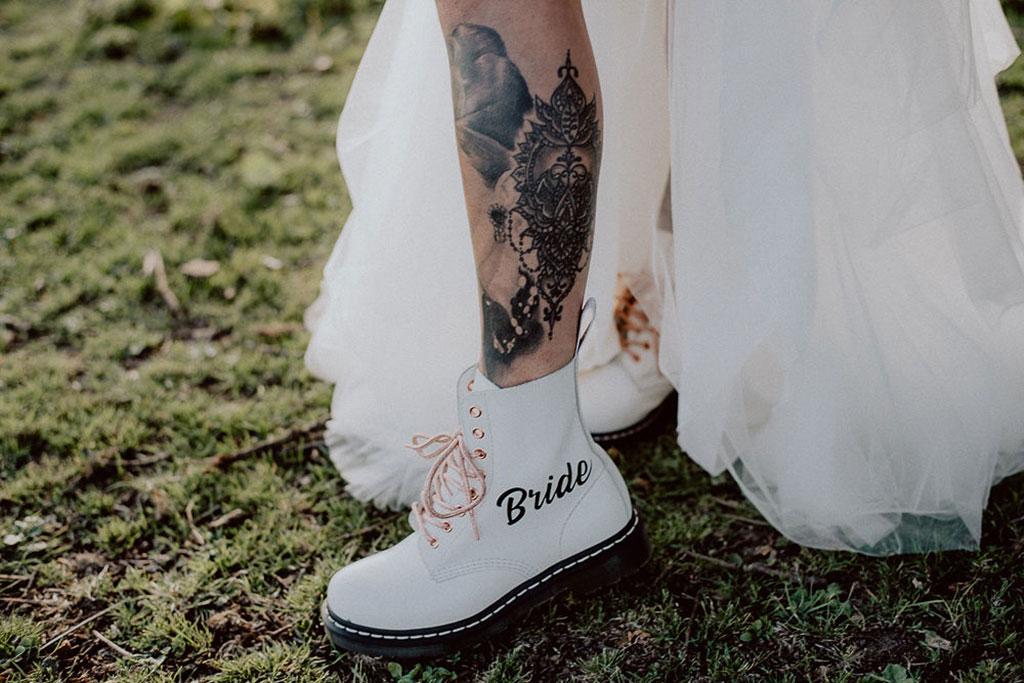 alternative wedding shoes