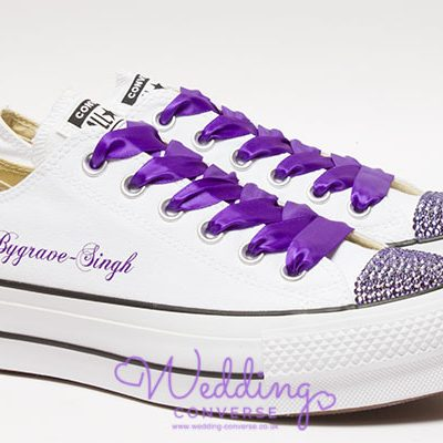 Cadbury Purple Wedding Shoes