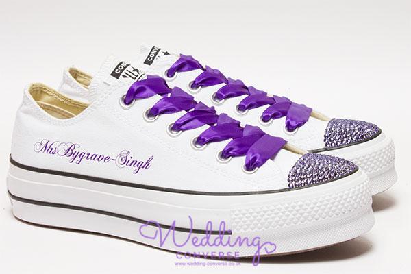 Cadbury Purple Wedding Shoes