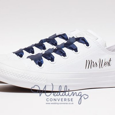 custom converse for bride