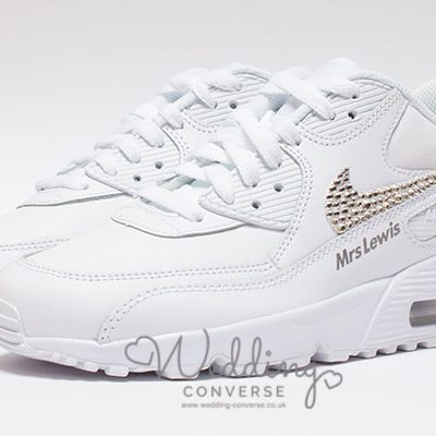 diamante nike wedding shoes for the bride