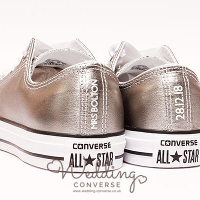 silver wedding trainers