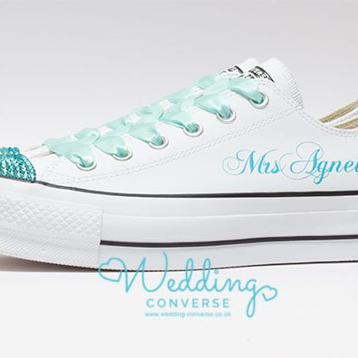 Tiffany Blue Converse Platform for the Bride
