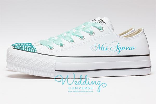 Tiffany Blue Converse Platform for the Bride