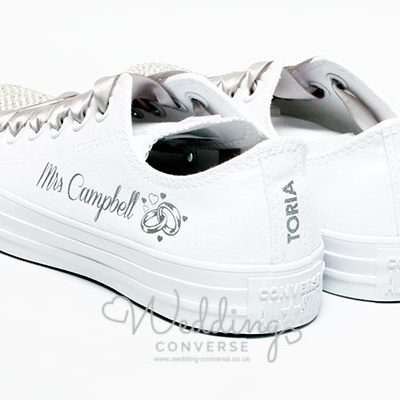 wedding converse with logo