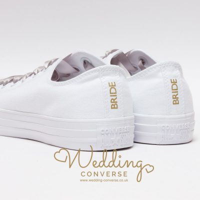 bride converse heel tags