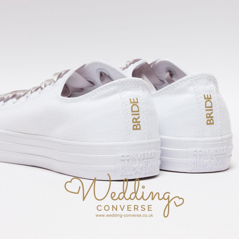 bride converse heel tags
