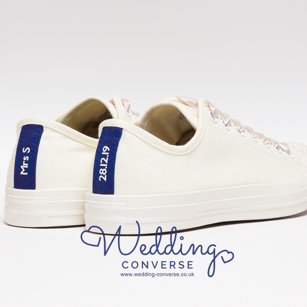Cream Converse for Bride