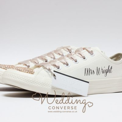 cream wedding converse