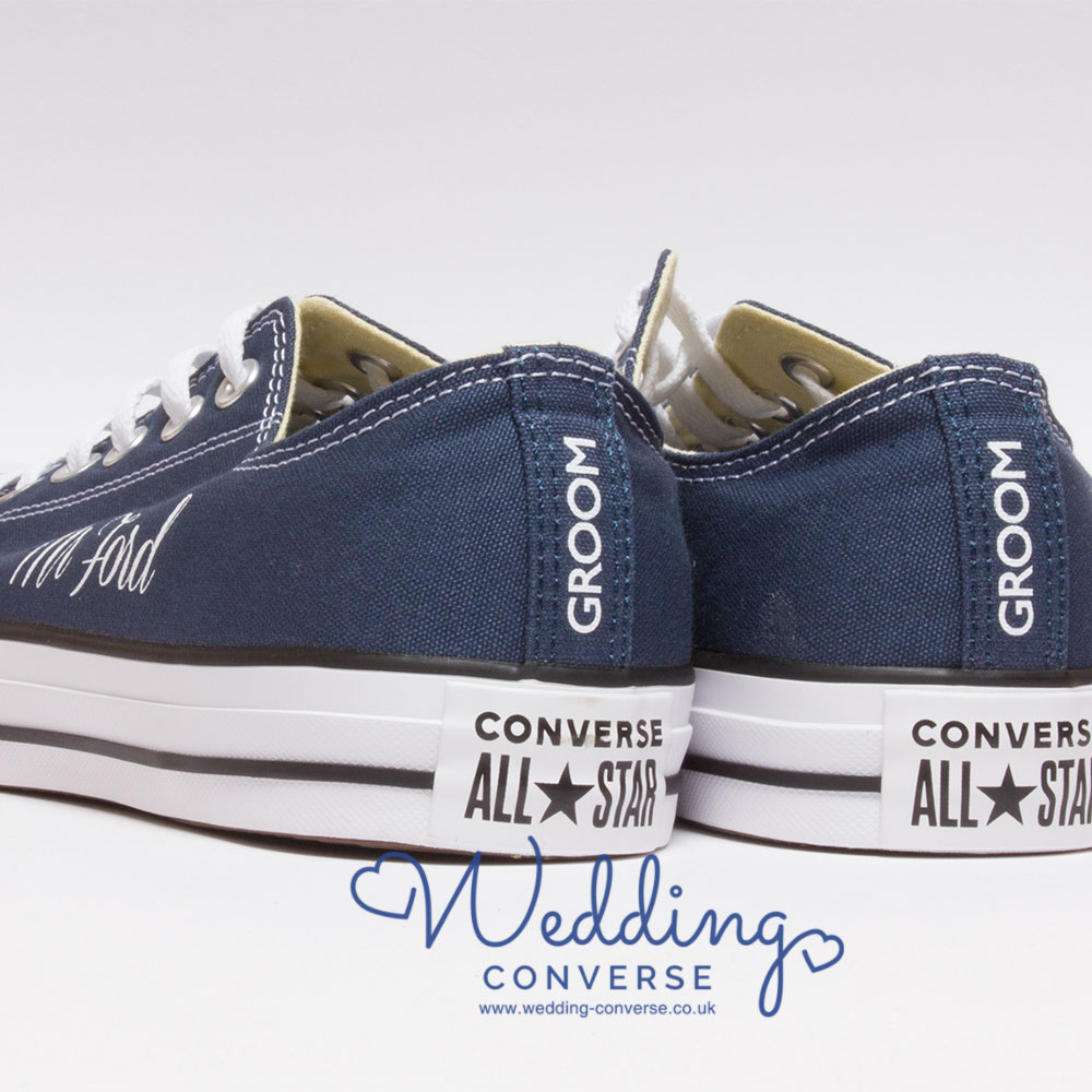 Custom Converse for the Groom