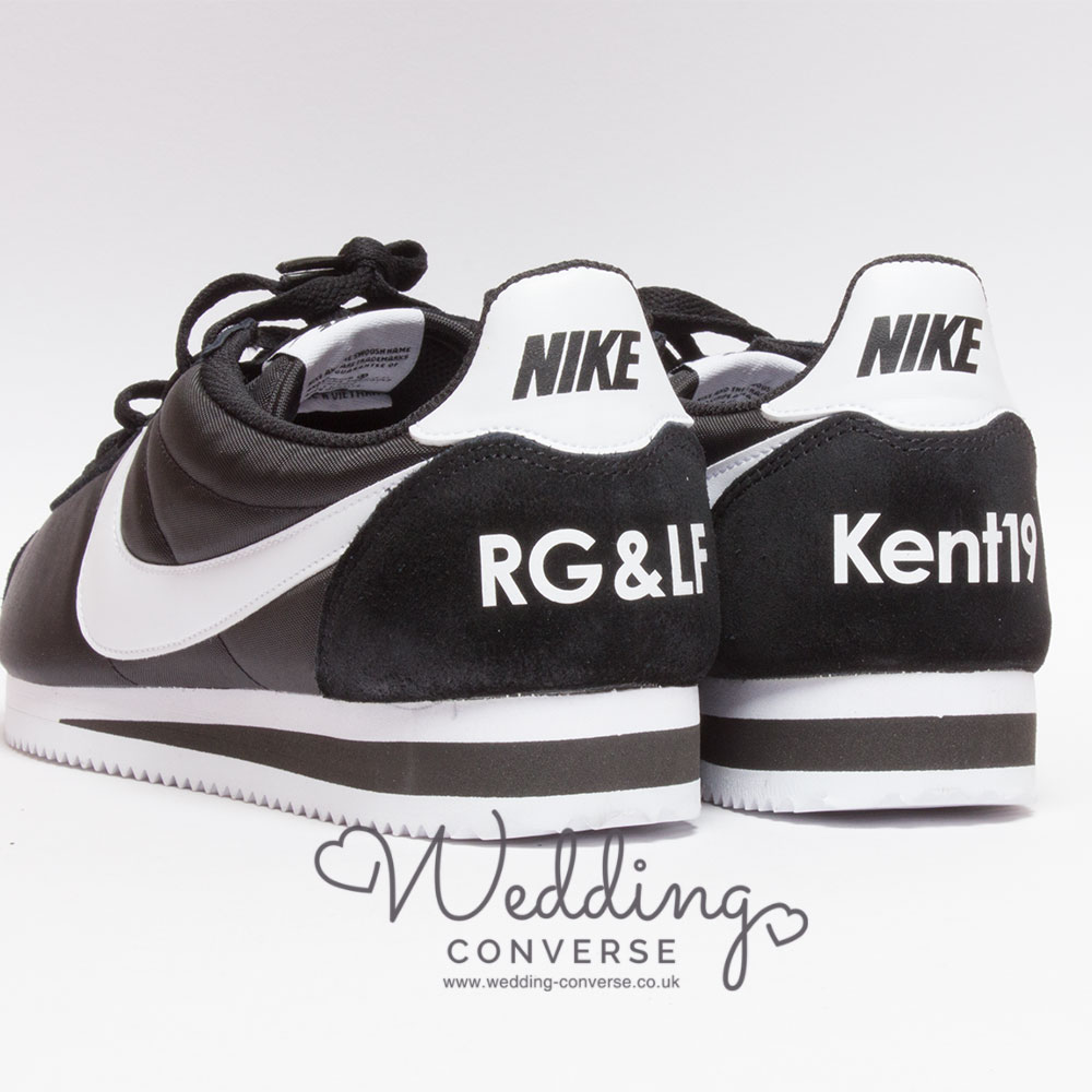 Nike Cortez customised for the Groom