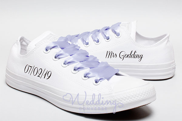 custom bride converse