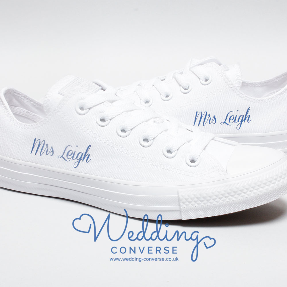 custom bride sneakers