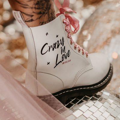 bride custom dr martens