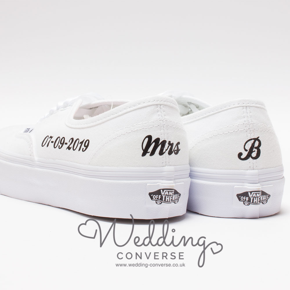 custom vans trainers for bride