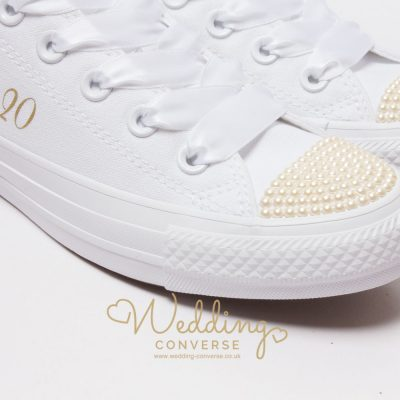 pearl bridal sneakers