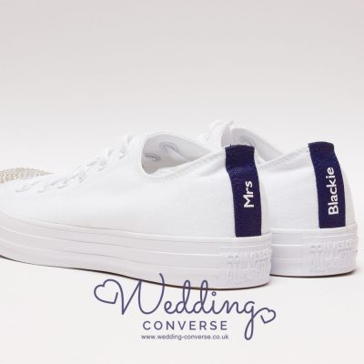 personalised converse heel tags
