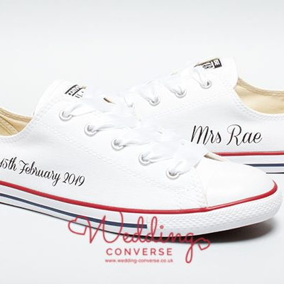 personalised wedding converse