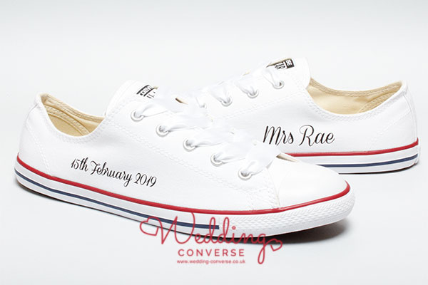 personalised wedding converse