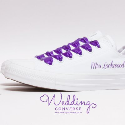 purple wedding shoes converse for the bride
