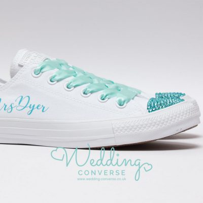 tiffany blue wedding pumps