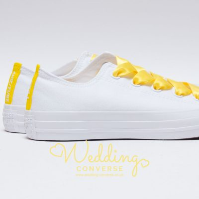 yellow custom converse