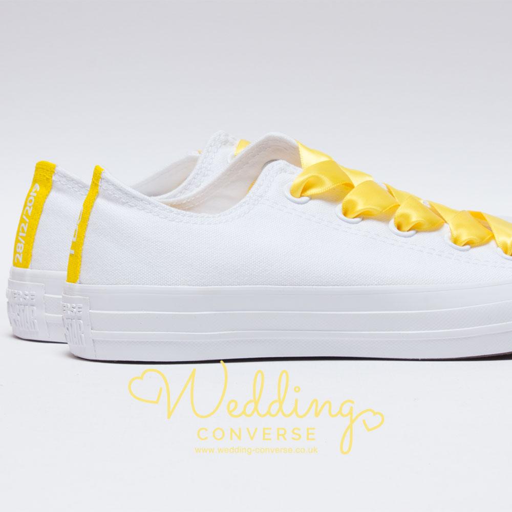 yellow custom converse