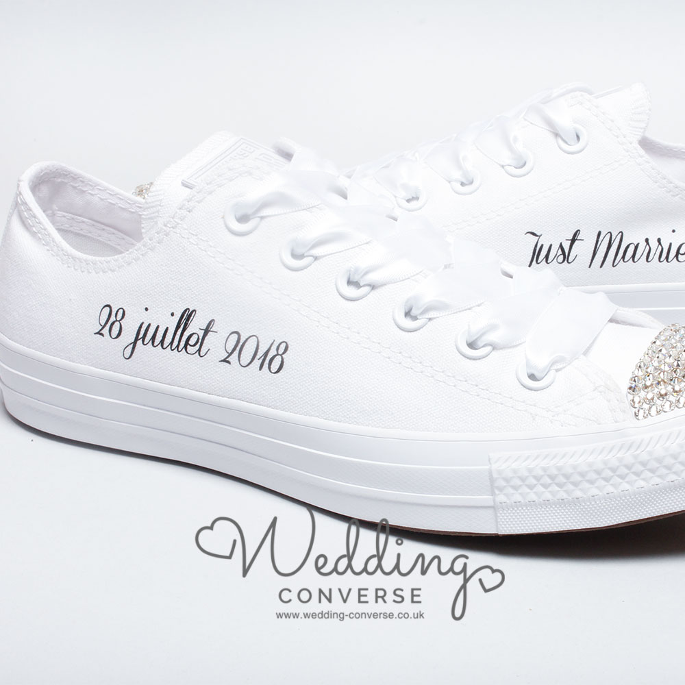 Just Married Bride Converse