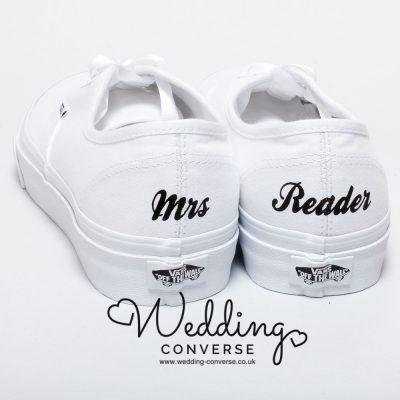 custom bridal vans