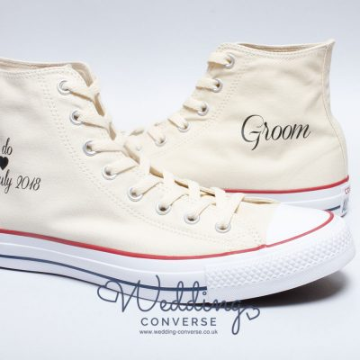 ivory Converse for the groom