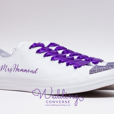 wedding custom converse purple
