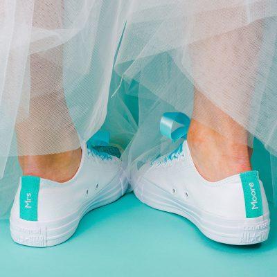 Pop of Colour Bride Converse Heel Tags