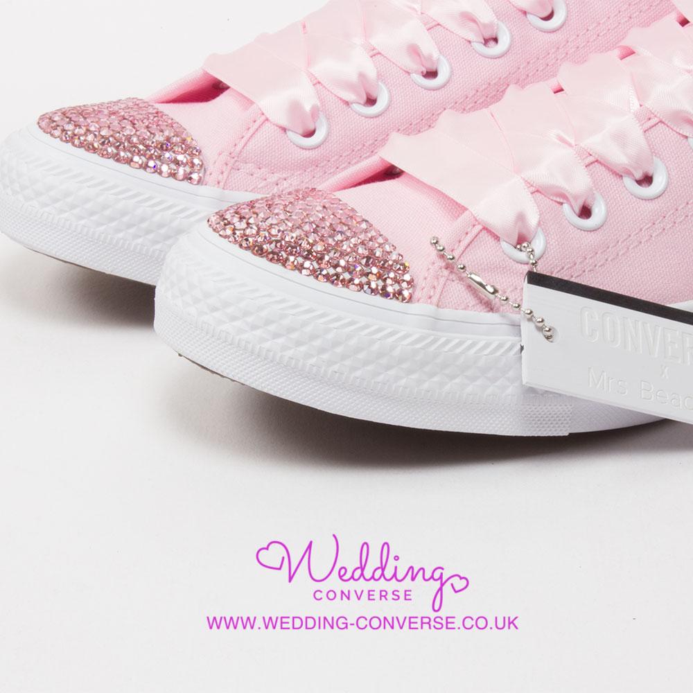 pink bride custom converse