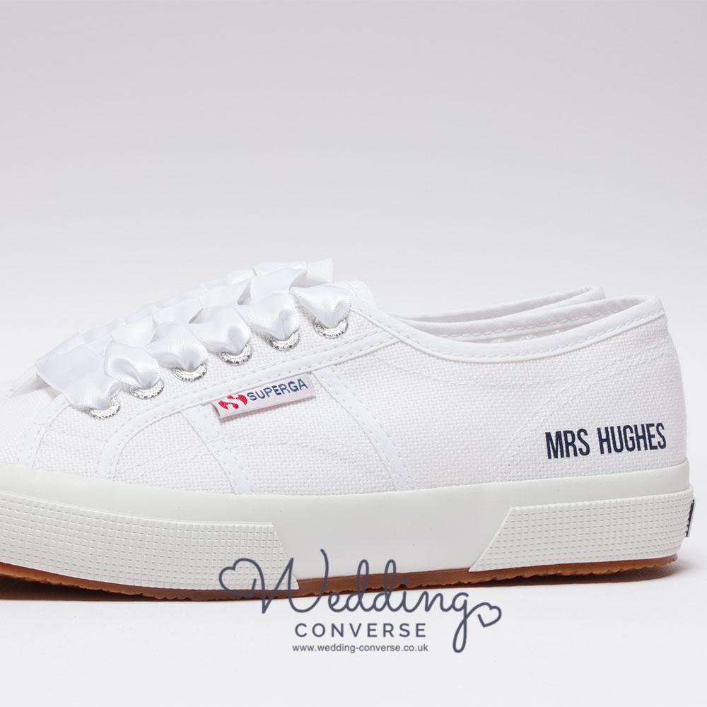 Personalised Superga Wedding Shoes