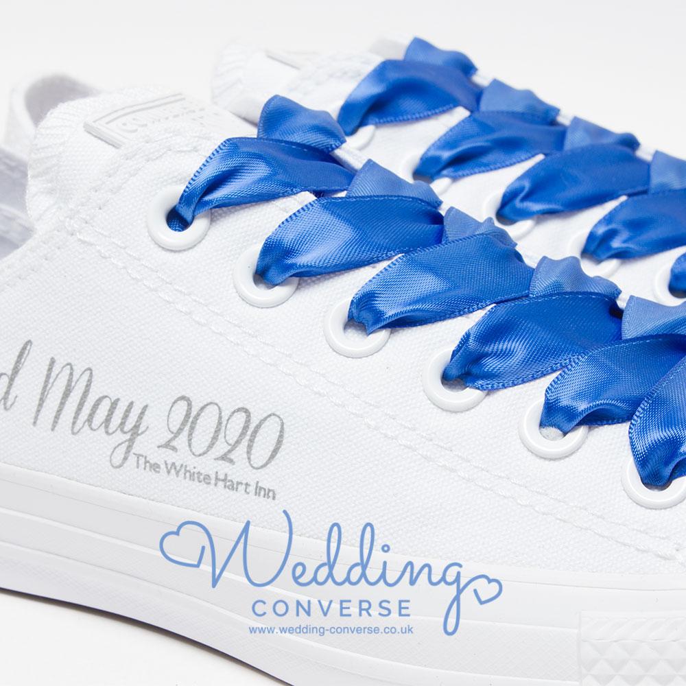 bride and groom personalised wedding shoes