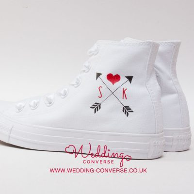 Arrow & Hearts Personalised Converse