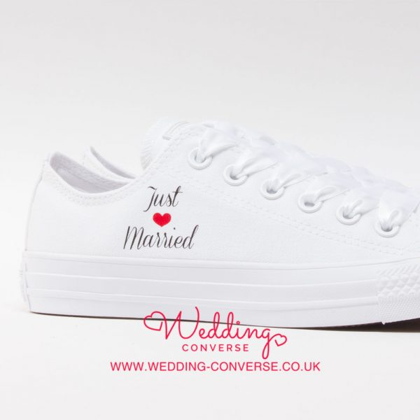 bride and groom Converse