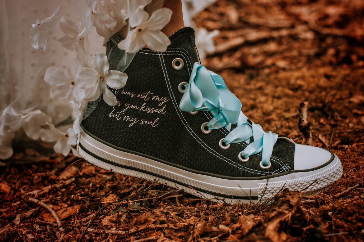 custom converse for wedding