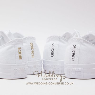 bride and groom converse shoes