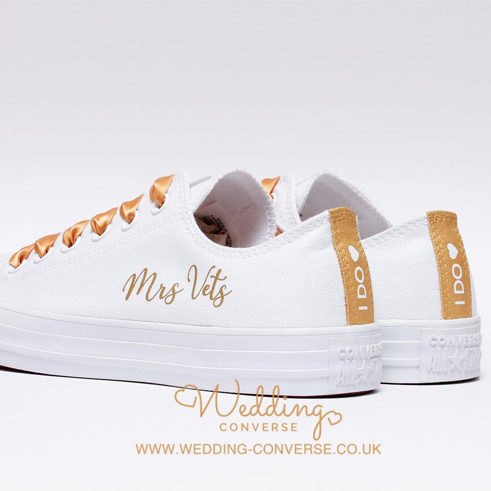 bride custom converse