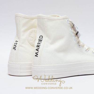 just married wedding sneakers
