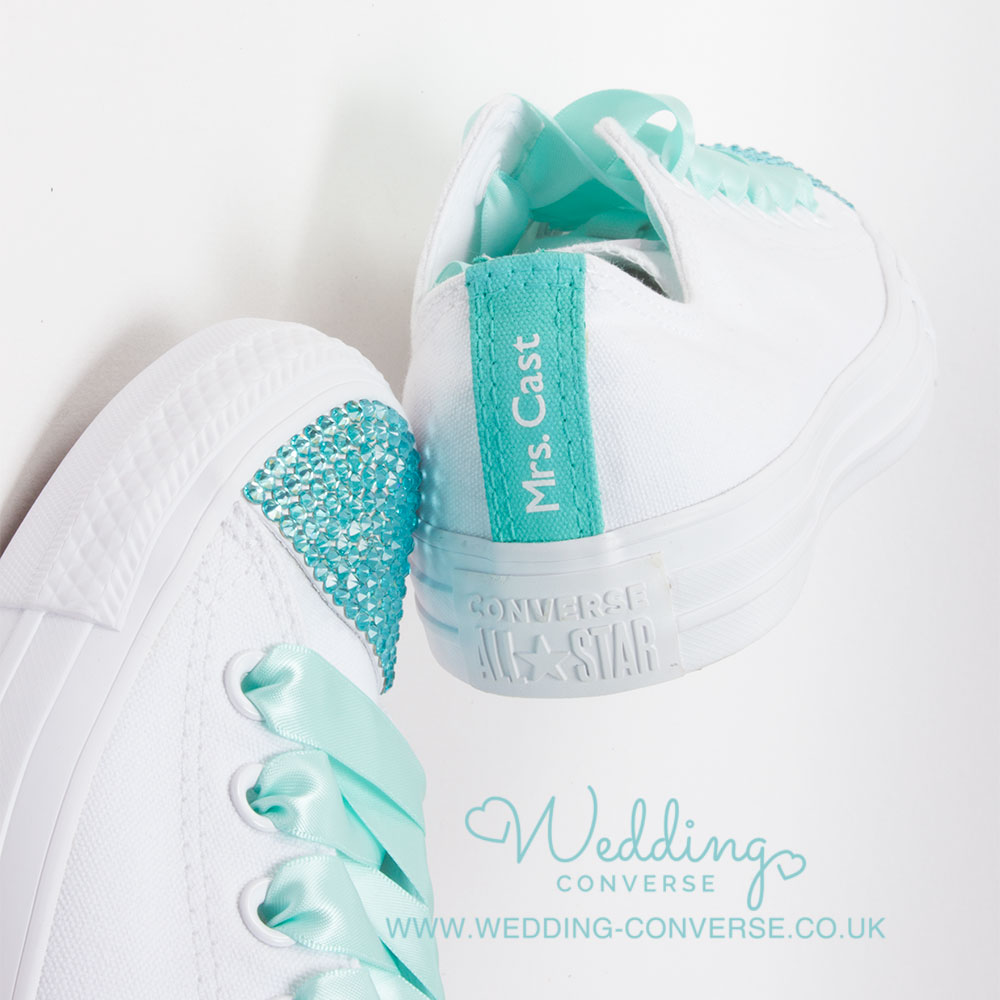wedding sneakers tiffany blue