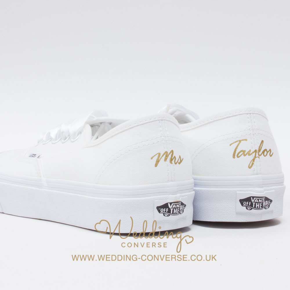 custom vans wedding sneakers