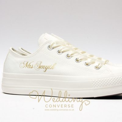 luxury ivory wedding converse